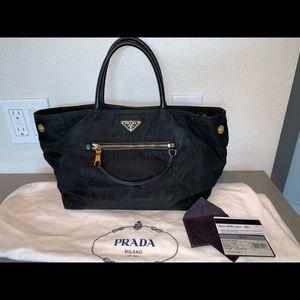 Authentic Prada neverfull pm shopper tote satchel